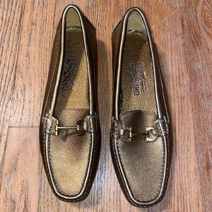 Salvatore Ferragamo Gold Loafers